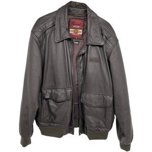 Reed Leather brown thinsulate bomber jacket